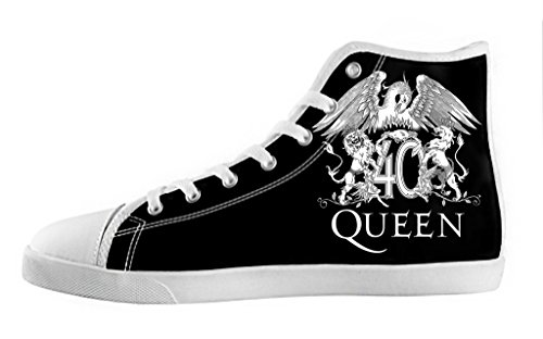 Men's High Top Lace-up Casual Canvas Shoes Rock Band Queen DIY Fashion Sneaker