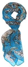 LibbySue-Floral & Graphic Print Silk…