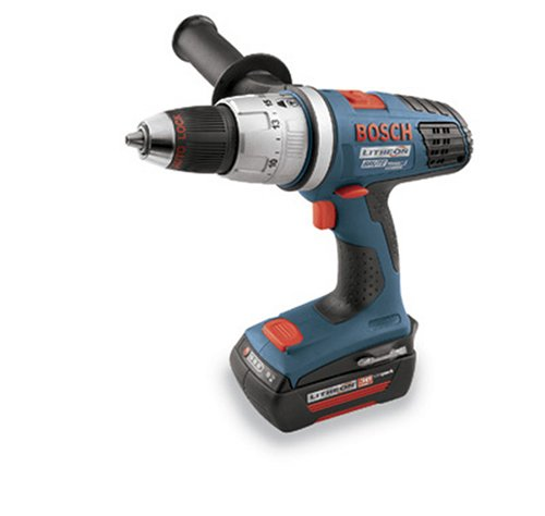 Bosch 18636-03 120-Volt 36-Volt Litheon Hammer Drill Driver with 2-SlimPack Batteries