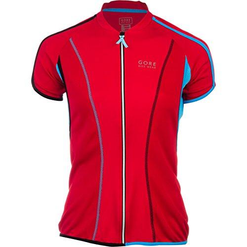 Gore Bike Wear Countdown 3.0 Full-Zip Jersey - Short-Sleeve - Women'S Rich Red/Waterfall Blue, M