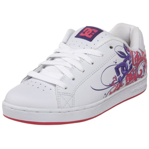 DC Women's pixie scroll Skateboarding Shoe white/pink wpn 302713 3 UK