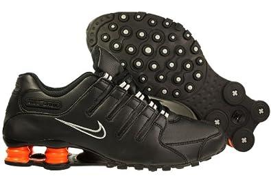 Nike Shox NZ Mens Running Shoes [378341-033] Black/Black-Orange Mens Shoes 378341-033-7