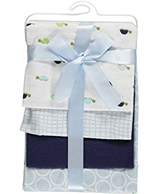 4 Pack Flannel Receiving Blanket for Newborns by Luvable Friends