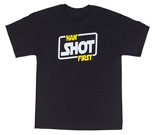 T-Shirt Bordello Han Shot First Men's Shirt X-Large Black