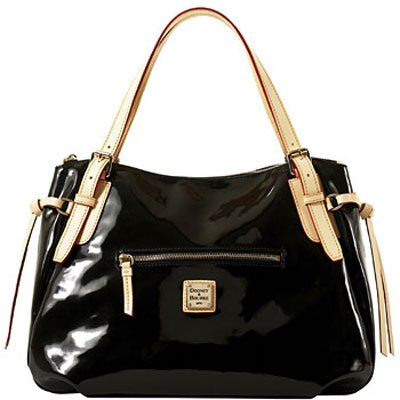 Dooney & Bourke Patent Venus Collection Large Nina Black