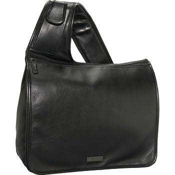 Price Bisadora Black Glazed Leather Messenger - QuQuLynPoBurf f1b4d035b3