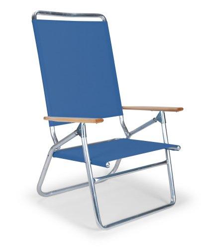 Telescope Casual Light and Easy High Boy Folding Beach Arm Chair, Cobalt