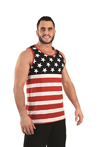 Mens Stars & Stripes American Flag Tank Top Shirt (Red/White/Blue)