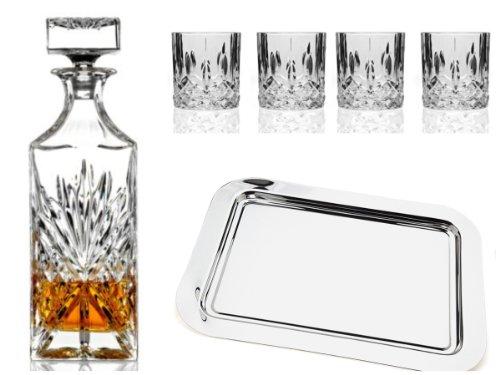 Dublin 6 Pc Crystal Whiskey Bar Set