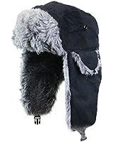 Russian Trapper Cossack Ushanka Faux Fur Winter Ski Hat Ladies Mens Unisex Black Grey White or Brown