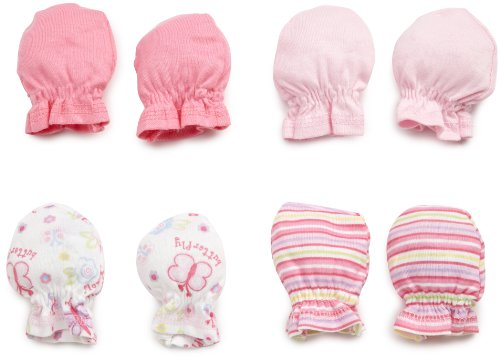 Deal Gerber Baby-girls Newborn 4-Pack Mittens, Pink, 0-3 Months Guides