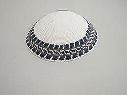 DMC 100% Cotton Kippah White 16cm Yamaka Yarmulke Skull Cap Judaica Kippa