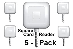 5 Pack - Square Card Readers - Accept Payments Everywhere