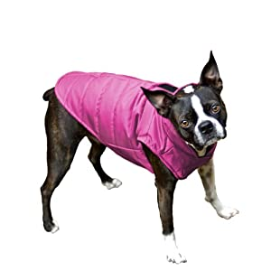 Scooter's Friends Puffy Dog Coat, Size 10, Raspberry