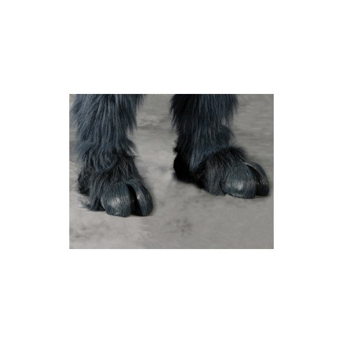 Beast Or Goat (Satyr) Hooves (Grey) Hoof-Hearted Feet Adult Halloween Costume Accessory front-186984