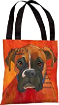 Boxer Style 2 (Natural) Dog Breed Tote Bag