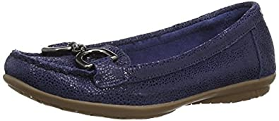 Hush Puppies Ceil, Women's Loafers, Navy Leather, 3 UK