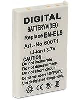 Invero ® Batterie pour Nikon Coolpix P510 Appareil photo
