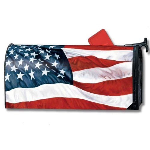 Stars and Stripes 4th of July Magnet Mailbox Cover