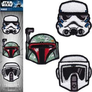 Star Wars / Clone Lucas Iron On 3 Patch Set - Storm Trooper, Boba Fett, & Clone