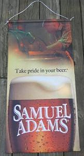 Sam Adams Take Pride In Your Beer 2 X 3 Ft Cloth Banner (Sam Adams Beer Sign compare prices)