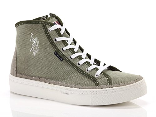 U.S. Polo Assn. Sneakers alte in tela VERDE 43