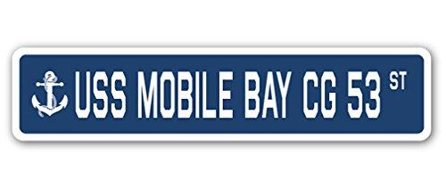 USS MOBILE BAY CG 53 Street Sign navy ship veteran sailor vet usn gift