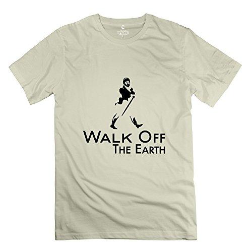 Huash Men Walk T Shirt Natural
