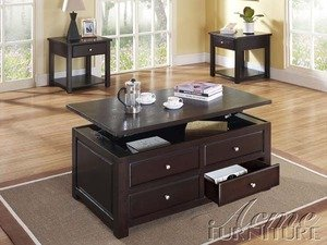 Malachi Espresso Finish Coffee Table With Lift Top by Acme Furniture