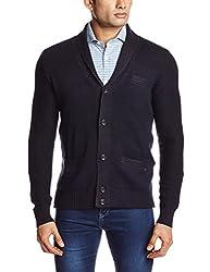 GAS Men's Cotton Blend Sweater (8059890938650_83419_X-Large_538-Blue and Black)