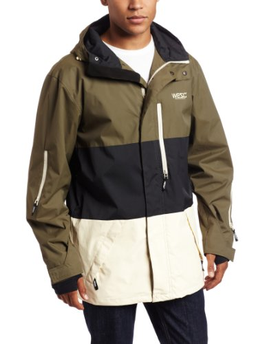 WeSC Men's Manuel Hooded Jacket, Ivy Green, Medium