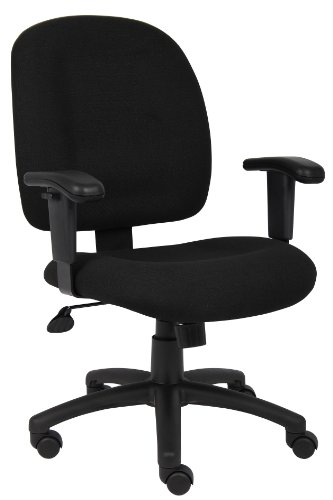 Boss Mid-Back Ergonomic Task Chair Black