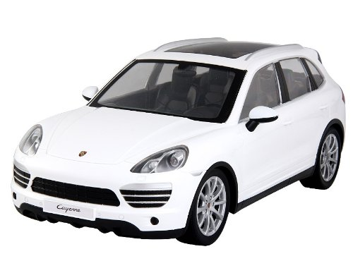 MJX 8552 1:14 3-Channel Rechargeable RC Porsche Cayenne Car (White) + Worldwide free shiping