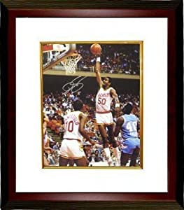 Ralph Sampson signed Houston Rockets 16x20 Photo Custom Framed