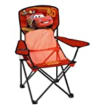 Disney Pixar Cars Toddler Camping Mesh Chair with Cup Holder and Arm Rest