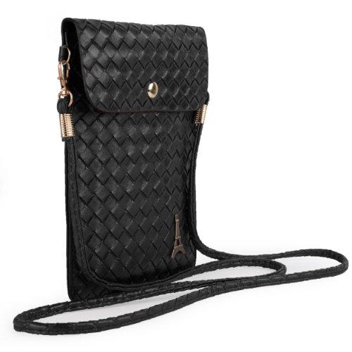 Universal PU Leather Shoulder Bag Purse Pouch Wallet Case For Nokia Lumia 1520 / Nokia Lumia 1320 / HTC ONE MAX / Samsung Galaxy Mega 6.3 / Mega 5.8 (Black)