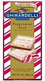 Ghirardelli Chocolate Bars, Peppermint Bark, 3-Ounce Bars (Pack of 4)