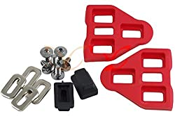 1 Pair Red LOOK Delta Compatible Pedal Cleats CarbonCycles with Screws Washers