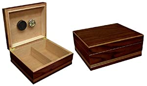 Prestige Import Group 25-50 Count Routed Edge Cigar Humidor