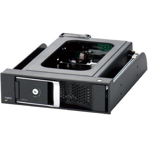Logitec 内蔵型HDDリーダーライタ 3.5インチ SATA接続 冷却ファン搭載 5インチベイ内蔵型 ブラック LHR-IS01BK / ロジテック