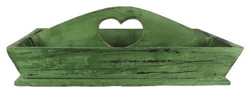 Deko Tablett Holz Modern Shabby Look Grün