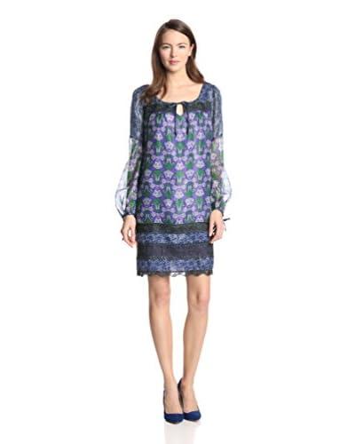 Anna Sui Women's Lotus Print Dress