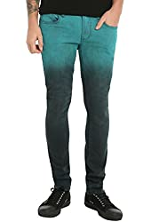 RUDE Teal Ombre Skinny Jeans
