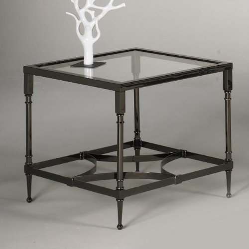 Cheap Hammary T2001910-00 Kensington Square End Table in Black Nickel (T2001910-00)