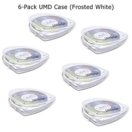 6 in 1 Pack UMD Cases for Sony Playstation Portable PSP (6 Clear)