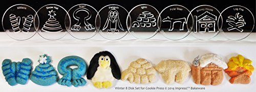 Winter 8 Disk Set for Cookie Presses (SIZE M disks for presses that came with METAL disks)