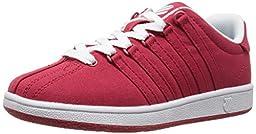 K-Swiss Classic Vintage Textile PS Tennis Shoe (Little Kid),Red/White,13 M US Little Kid