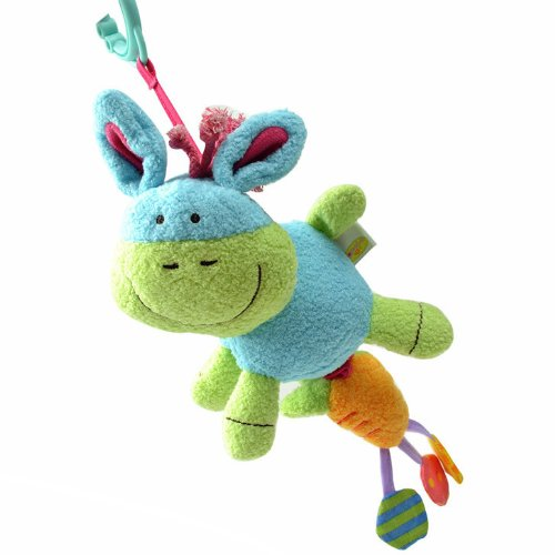 Elc Baby Early Development Rattle Toys Multifunctional Plush Hippo Bed Hang Ring Bell front-528920