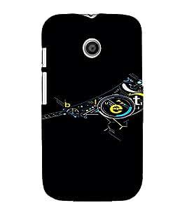 PrintVisa Modern Art Bird Design 3D Hard Polycarbonate Designer Back Case Cover for Motorola Moto E