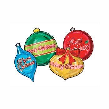 Pkgd Christmas Ornament Cutouts Party Accessory (1 count) (4/Pkg)